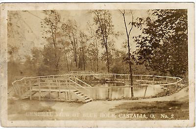OH, Castalia - Central view of Blue Hole - C C Messmore RPPC - G06038