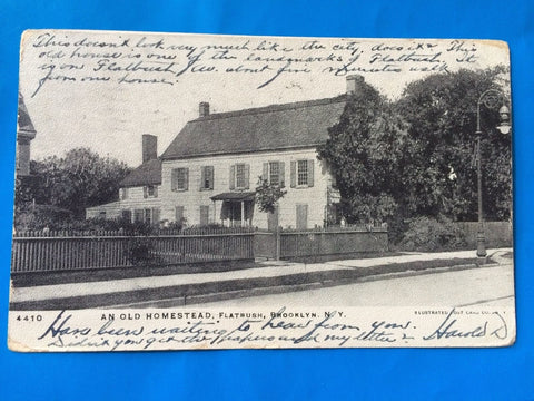 NY, Brooklyn - Flatbush house closeup postcard - H15039