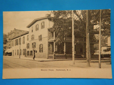 NJ, Hackensack -Mansion House, call box, fire hydrant - D08162