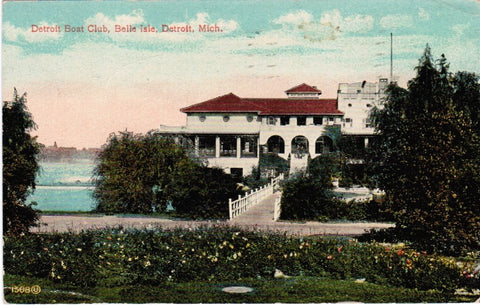 MI, Detroit - Boat Club at Belle Isle postcard - E05120