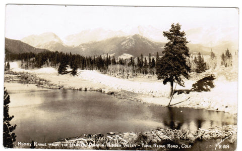 CO, Hidden Valley - Trail Ridge Rd, Mummy Range from Beaver Dams - RPPC - 500643