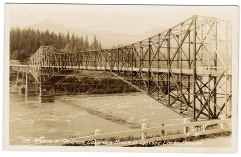 OR, Cascade Locks - Bridge of the Gods - Gifford RPPC - D07004