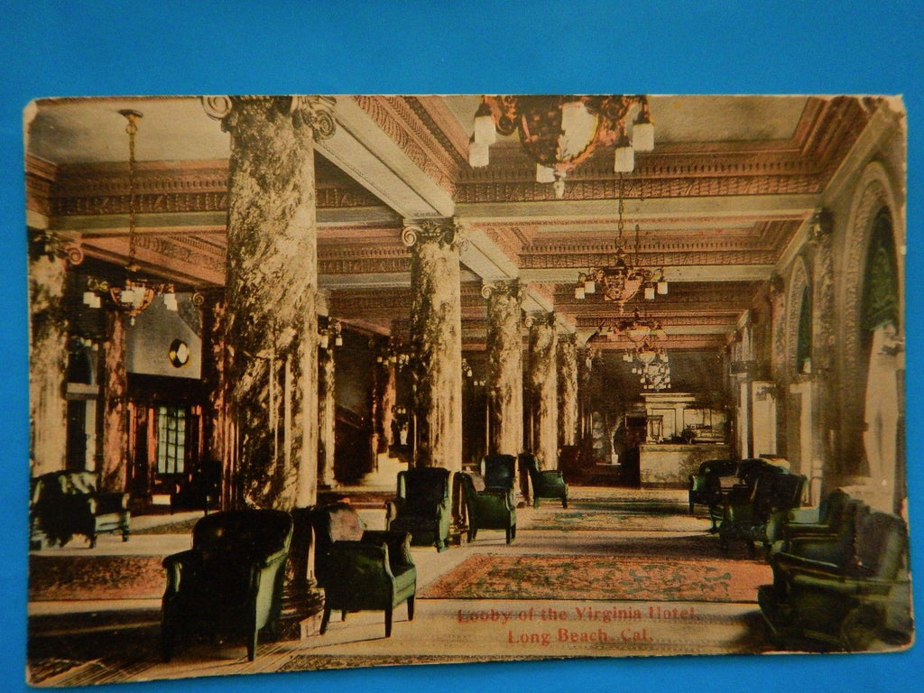 CA, Long Beach - Virginia Hotel lobby postcard - E05066-ca