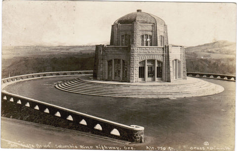 OR, Columbia River Hwy - Vista House - Cross and Dimmit RPPC - MB0002
