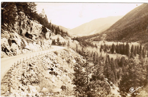 CO, Berthoud Pass - scene on - Sanborn B961 RPPC - B06455
