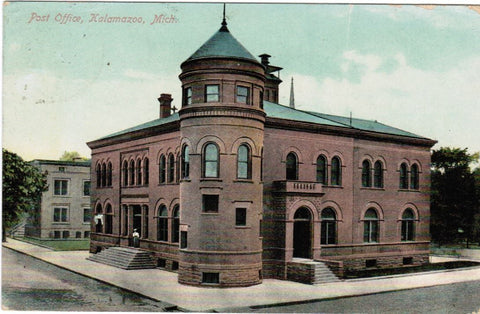 MI, Kalamazoo - Post Office PO postcard - C08197