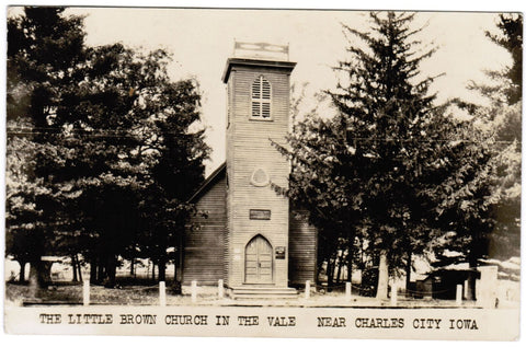 IA, Charles City - Little Brown Church in the Vale - RPPC postcard - R00305