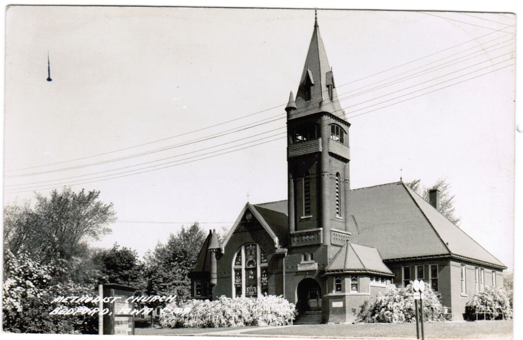 IA, Bedford - Methodist Church - RPPC postcard - R00371