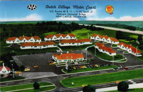 DE, New Castle - Dutch Village Motor Court postcard - 800440