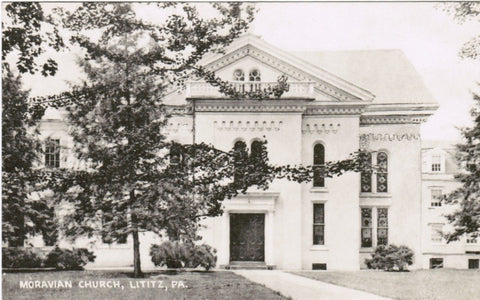 PA, Lititz - Moravian Church - Tecraft Co postcard - A12005