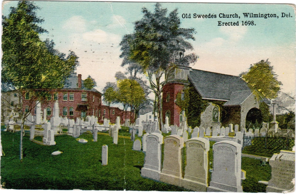 DE, Wilmington - Old Swedes Church, cemetery, gravestones - w03010