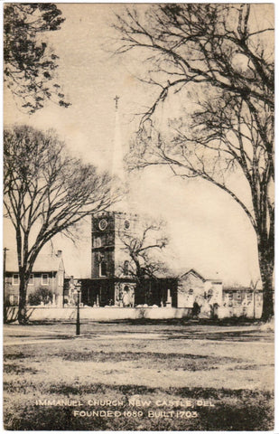 DE, New Castle - Immanuel Church built 1703 - Tecraft postcard - K03042