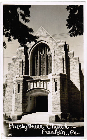 PA, Franklin - Presbyterian Church - Micheners Photo RPPC - w01042