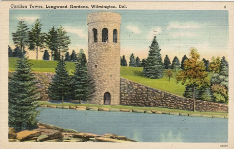 DE, Wilmington - Carillon Tower, Longwood Gardens postcard - w00496
