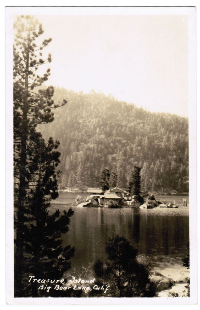 CA, Big Bear Lake - Treasure Island - RPPC - w02718