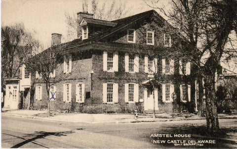DE, New Castle - Amstel House closeup, Tecraft Co postcard - F09284