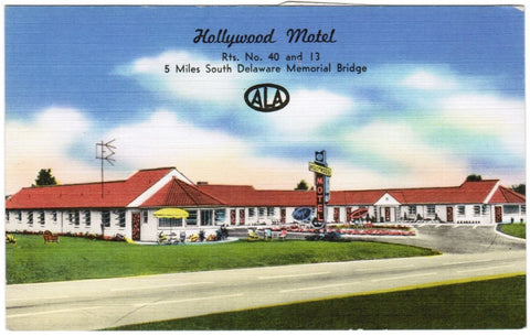 DE, New Castle - Hollywood Motel postcard - C08548