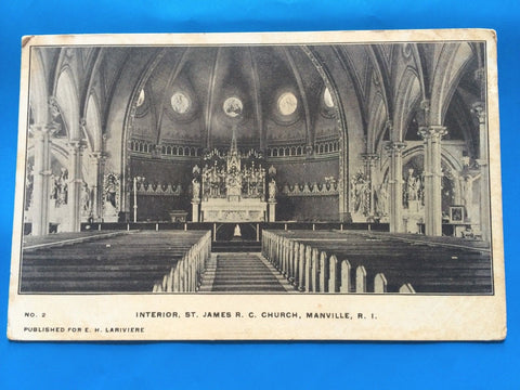 RI, Manville - St James RC Church Interior (ONLY Digital Copy Avail) - H15071