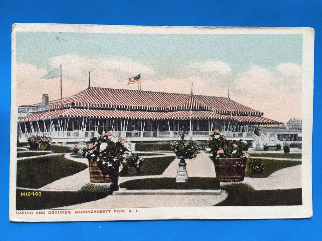 RI, Narragansett Pier - Casino and Grounds closeup - C06598
