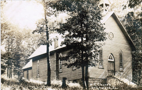 PA, Driftwood - M E Church - Wiese Studio, Brooks RPPC - A06443
