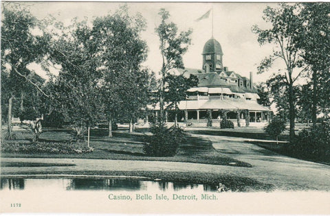 MI, Detroit - Casino at Belle Isle - H L Woehler postcard - I03262
