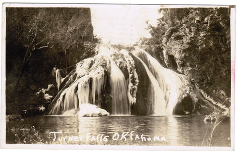 OK, Turner Falls - RPPC showing the actual waterfall - D06134