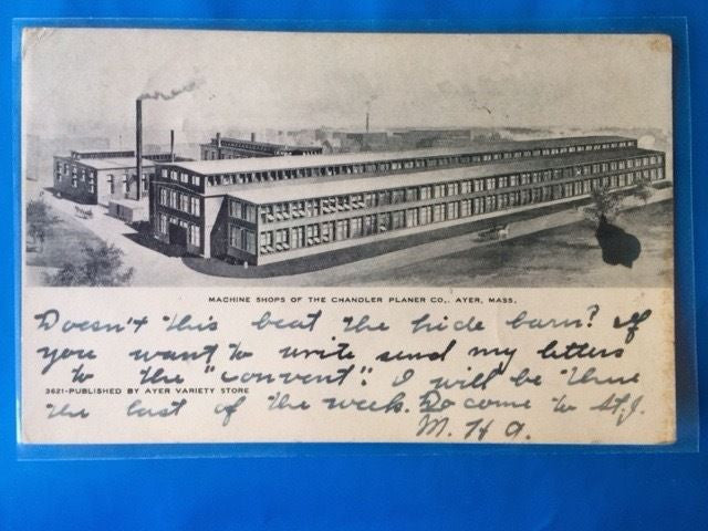 MA, Ayer - Machine Shops of the Chandler Planer Co postcard - H15006