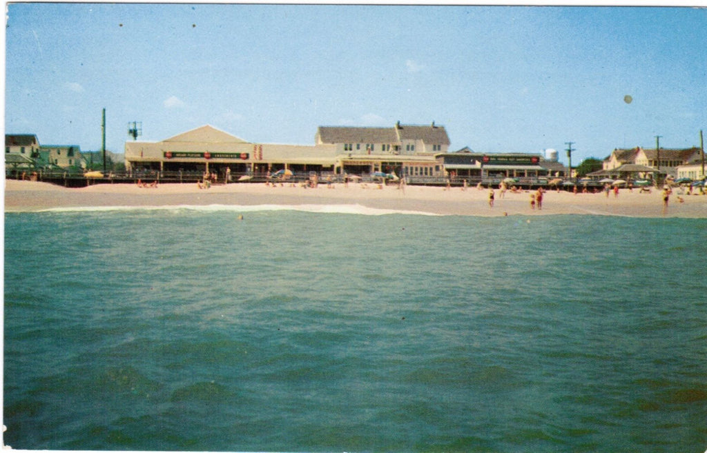 DE, Rehoboth - view from ocean postcard - B08195