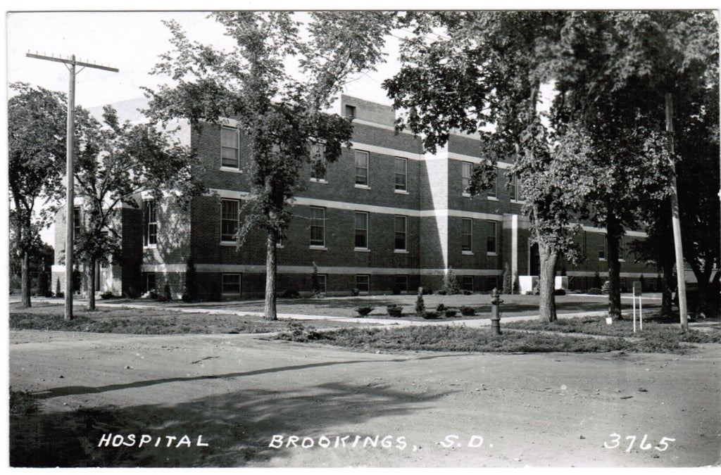 SD, Brookings - Hospital - L L Cook RPPC postcard - R00384