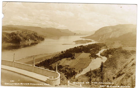 OR, Columbia River Hwy - Gorge and Vista - Cross and Dimmitt RPPC - E04003