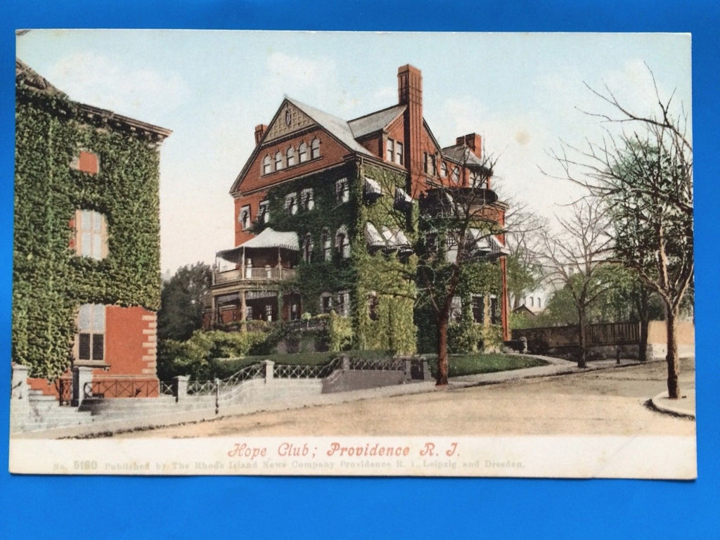 RI, Providence - Hope Club building covered in ivy - A10104