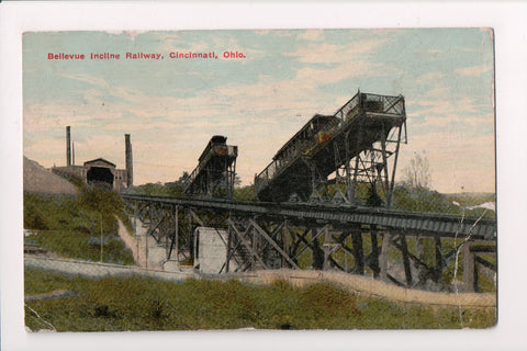OH, Cincinnati - BELLEVUE INCLINE Railway - @1912 postcard - 605306