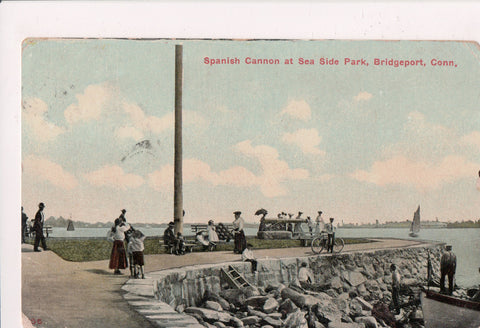 CT, Bridgeport - Sea Side Park, Spanish Cannon, people - 800609