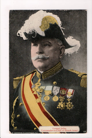Misc Military - General Joffre of French Army closeup postcard - 800629