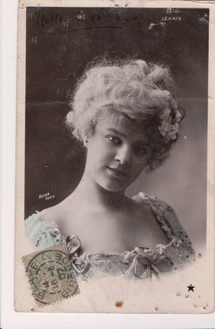 People - Female postcard - Pretty Woman - Boyer RPPC - LEKAIN - 800717
