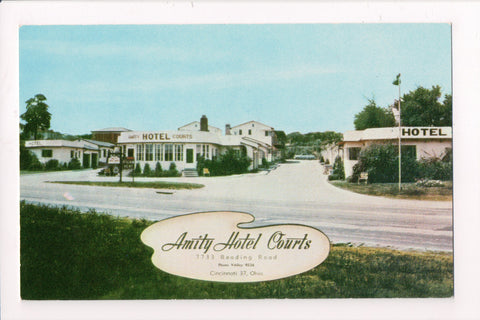 OH, Cincinatti - AMITY HOTEL COURTS - 7733 Reading Road postcard - A06167