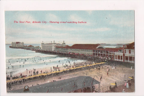 NJ, Atlantic City - JAMES' Salt Water Taffy advertising postcard - A06939