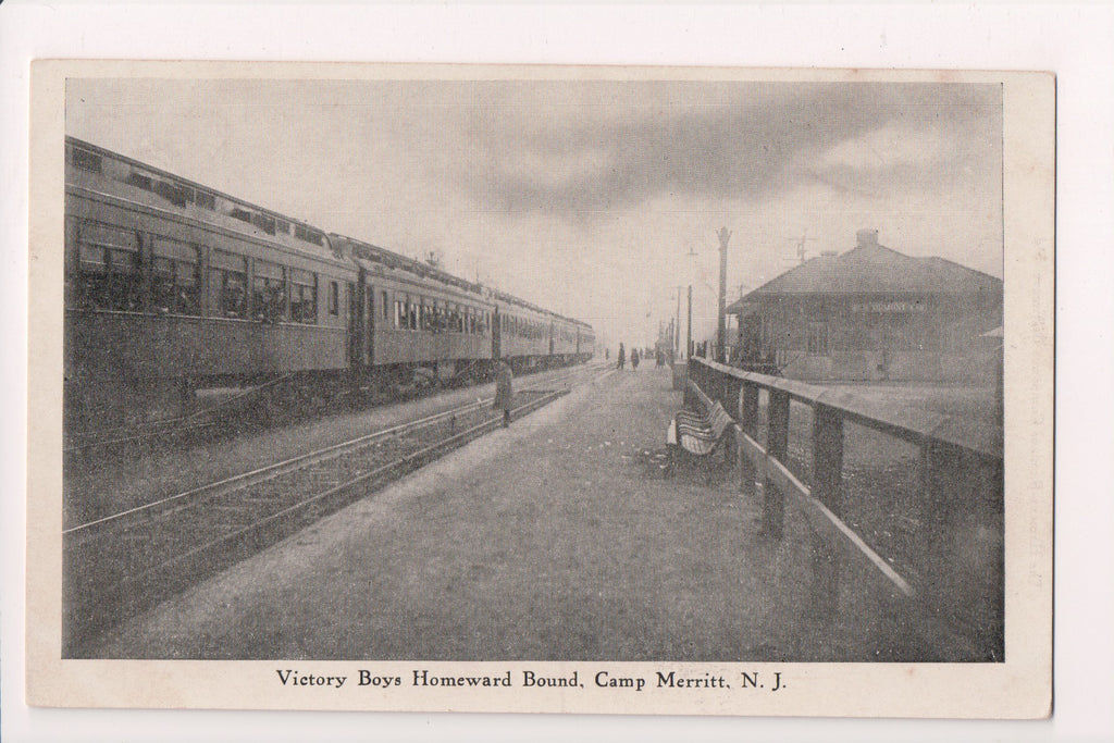 NJ, Camp Merritt - Victory Boys Homeward Bound postcard - A06940
