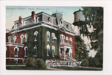 OH, Alliance - Fairmount Childrens Home, water tower - @1912 postcard - A12004