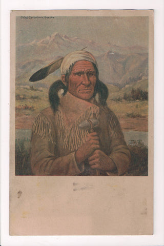 Indian postcard - GERONIMO (1829 - 1909) Apache Chief - A12032