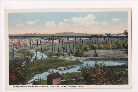 OH, Akron - Northern Ohio Railway Bridge over Ohio Canal - A12497