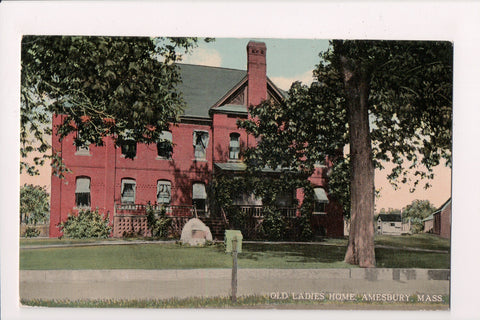 MA, Amesbury - Old Ladies Home postcard - A12552