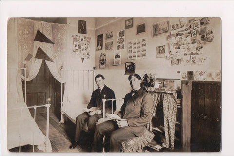 PA, Kutztown - KSNS on sleeve band, mens bedroom RPPC - A17290