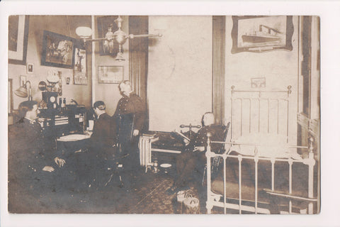 PA, Kutztown - Bedroom, officers, antiques etc at KSNS RPPC - A17365