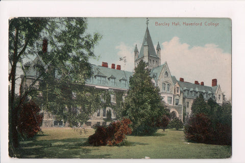PA, Haverford - Barclay Hall at College, 1913 postcard - A17449