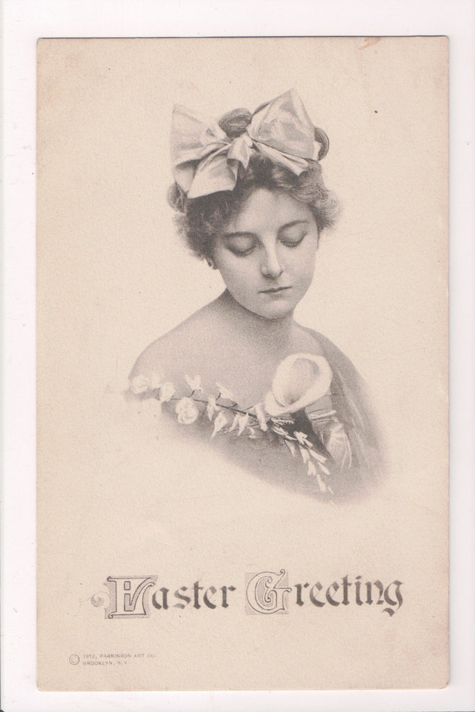 Easter - lady from the chest up looking down - Parkinson Art Co - A19033