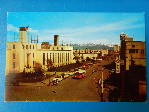 AK, Anchorage - Fourth Avenue, 1st National Bank, bus - w01630
