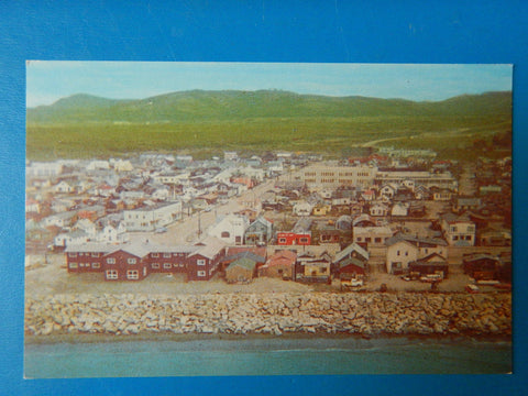 AK, Nome - aerial of the old gold town postcard - w00378