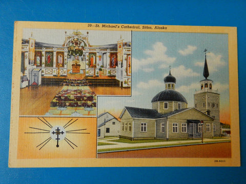 AK, Sitka - St Michaels Cathedral postcard - w03709