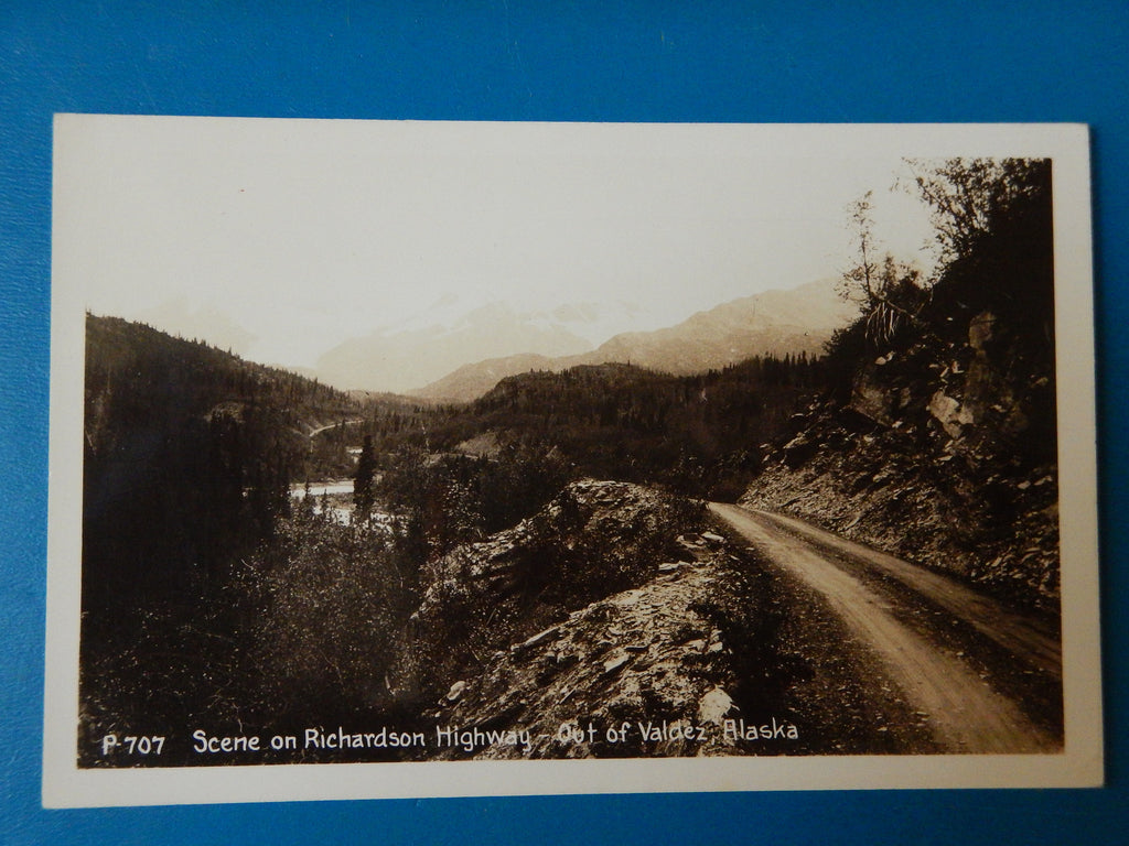 AK, Valdez - Scene on Richardson Highway - RPPC - R00351